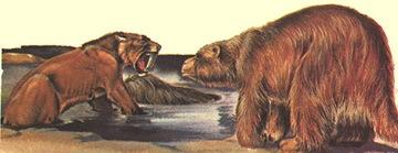 animales en un pozo de alquitran