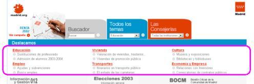 página inicial de madrid.org