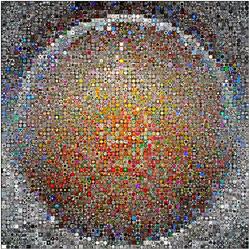 círculo creado con fotos cuadradas